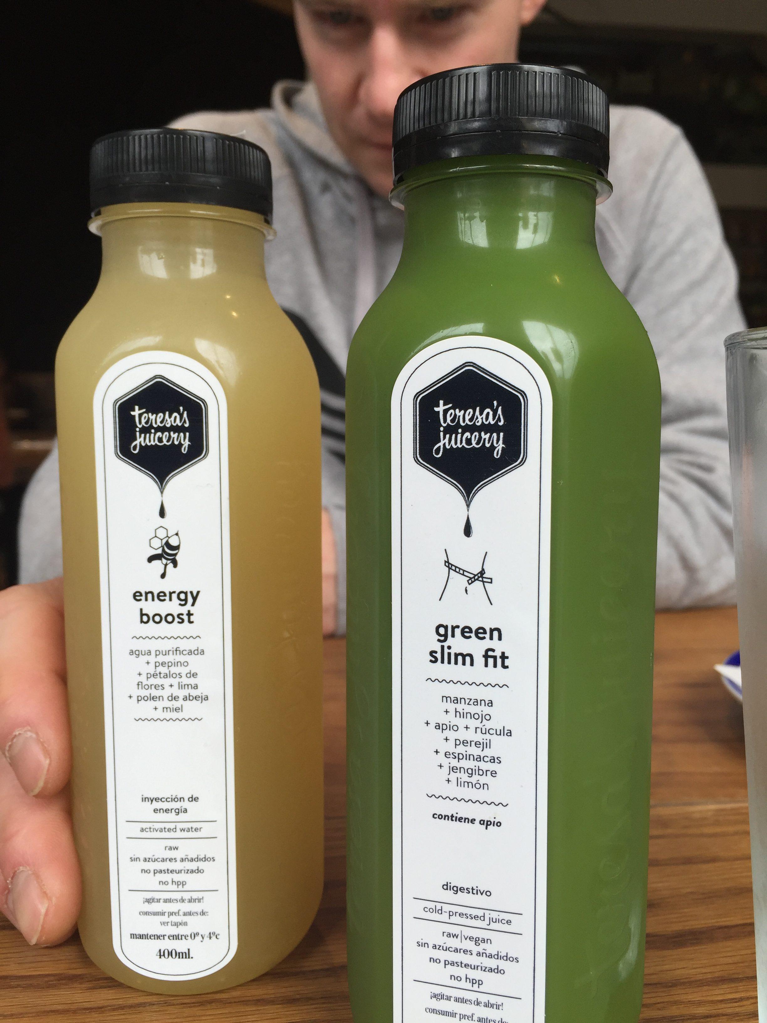 barcelona vegan saft von teresas juicery