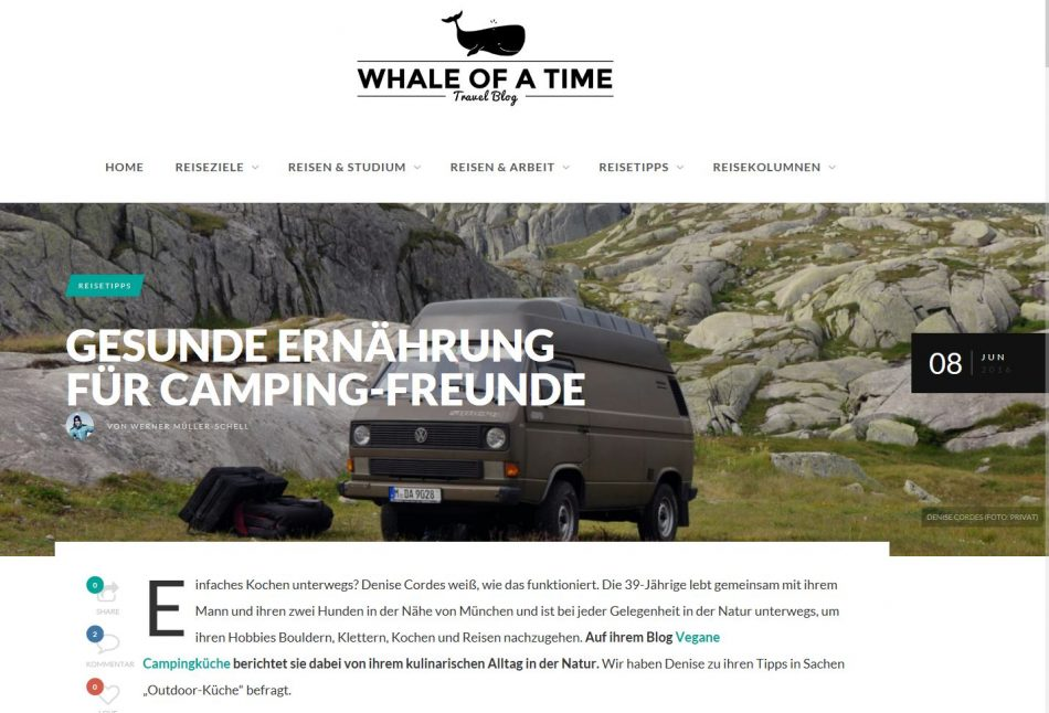 Presse Artikel Whale of a Time